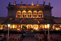 outdoor restaurant, café, Vienna, Austria, Wien, Outdoor restaurant at Kursalon in City Park in Vienna in the evening.
