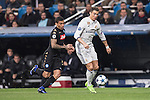 Cristiano Ronaldo of Real Madrid fights for the ball with Allan of SSC Napoli during the match Real Madrid vs Napoli, part of the 2016-17 UEFA Champions League Round of 16 at the Santiago Bernabeu Stadium on 15 February 2017 in Madrid, Spain. Photo by Diego Gonzalez Souto / Power Sport Images