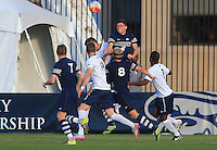 Washington, D.C. - Thursday, November 12, 2015: Georgetown defeated Xavier 1-0 in the semifinal of the Big East tournament at Shaw Field.