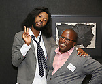 Jeremy O. Harris and Michael R. Jackson attends the Vineyard Theatre Paula Vogel Playwriting Award honoring Jeremy O. Harris on October 12, 2018 at the National Arts Club in New York City.