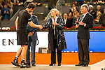 Scotch Andy Murray, Manolo Santana, Madrid Mayor Manuela Carmena and the president of Mutua Madrileña, Ignacio Garralda during  TPA Finals Mutua Madrid Open Tennis 2016 in Madrid, May 08, 2016. (ALTERPHOTOS/BorjaB.Hojas)
