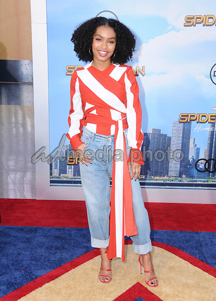 """28 June 2017 - Hollywood, California - Yara Shahidi. """"Spider-Man: Homecoming"""" Los Angeles Premiere held at the TCL Chinese Theatre in Hollywood. Photo Credit: Birdie Thompson/AdMedia"""