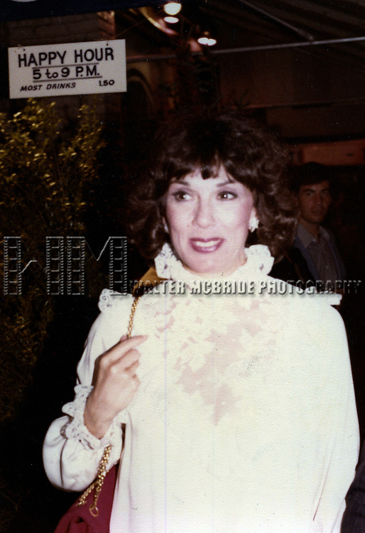 Phyllis Newman on October 1, 1979 in New York City.