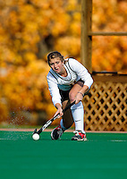 25 October 2009: University of Vermont Catamount defense/midfielder Callie Bellimer, a Freshman from Bridgewater, VT, in action against the Columbia University Lions at Moulton Winder Field in Burlington, Vermont. The Lions shut out the Catamounts 1-0. Mandatory Credit: Ed Wolfstein Photo