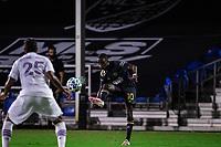 LAKE BUENA VISTA, FL - JULY 20: Jamiro Monteiro #10 of the Philadelphia Union kicks the ball during a game between Orlando City SC and Philadelphia Union at Wide World of Sports on July 20, 2020 in Lake Buena Vista, Florida.