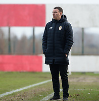 20180127 - AALTER , BELGIUM : Standard's head coach Hamide Ait Ahmed Lamara pictured during the quarter final of Belgian cup 2018 , a womensoccer game between Club Brugge Dames and Standard Femina de Liege , in Aalter , saturday 27 th January 2018 . PHOTO SPORTPIX.BE | DAVID CATRY