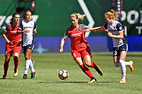 Portland, OR - Saturday September 02, 2017: Amandine Henry, Tori Huster during a regular season National Women's Soccer League (NWSL) match between the Portland Thorns FC and the Washington Spirit at Providence Park.