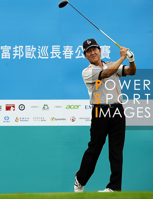 TAIPEI, TAIWAN - NOVEMBER 19:  Hsu Sheng-chuan of Taiwan tees off on the 10th hole during day two of the Fubon Senior Open at Miramar Golf & Country Club on November 19, 2011 in Taipei, Taiwan. Photo by Victor Fraile / The Power of Sport Images