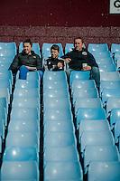 Re: Saturday 21st March 2015 <br /> Pictured: Swansea City Fans prior to the Game at Villa Park <br /> Re: Barclays Premier League Aston Vila v Swansea City at Villa Park, Birmingham, UK