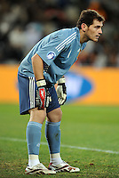 Iker Casillas of Spain. USA defeated Spain 2-0 during the semi-finals of the FIFA Confederations Cup at Free State Stadium in Manguang/Bloemfontein, South Africa on June 24, 2009..