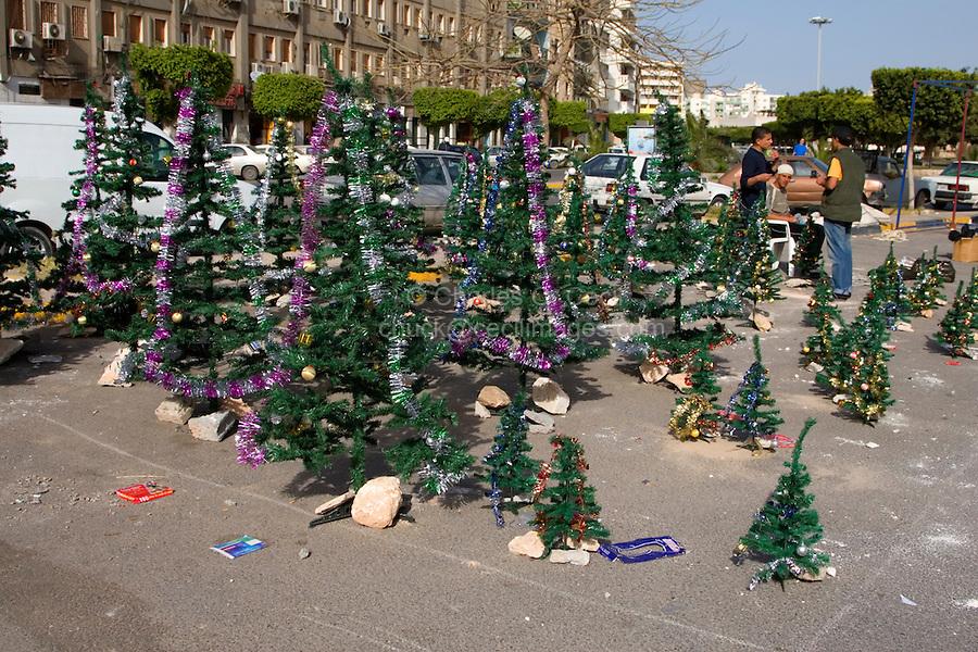 Tripoli, Libya - Holiday Market, Muhammad's Birthday Trees