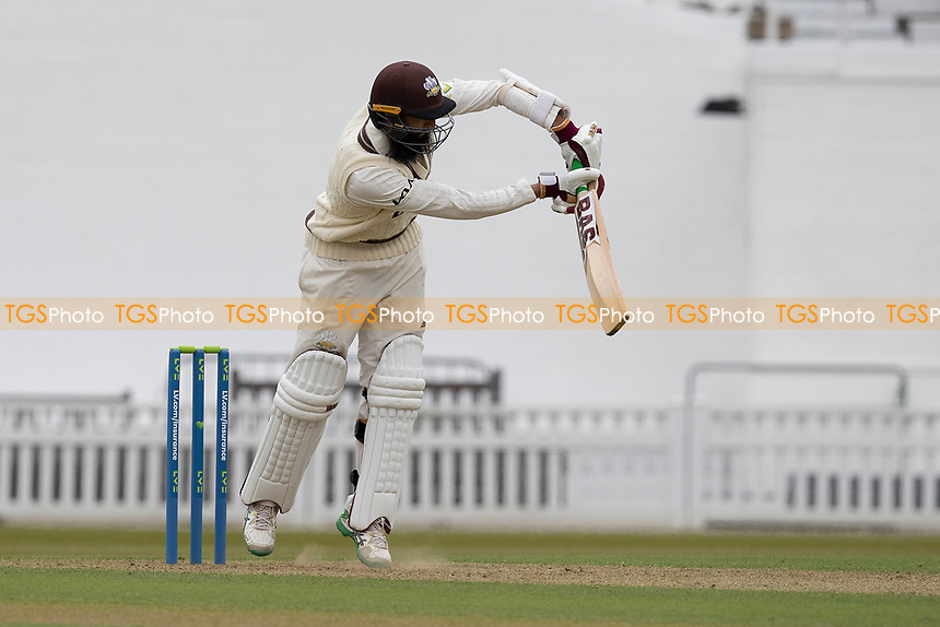 Hashim Amla of Surrey CCC pushes into the on side for runs during Surrey CCC vs Hampshire CCC, LV Insurance County Championship Group 2 Cricket at the Kia Oval on 30th April 2021