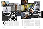 """Aleksandar Hemon in Chicago (second from left; top right on page 58) in D Della Donna, La Repubblica Magazine (Italy), """"Tutta L'Enegria Per Dirlo,"""" page 58-9 on July 10, 2010."""