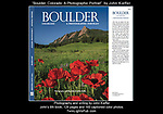 "It was wonderful to be asked to re-photograph my book: ""Boulder, Colorado: A Photographic Portrait."" My new book has all new imagery (165 color photos) and writing. TwinLightsPub.com"
