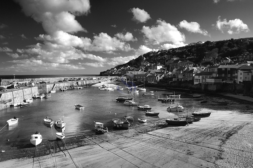 Mousehole Harbour and Mousehole near Penzance, Cornwall