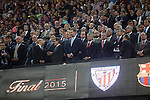 King Felipe VI of Spain during 2014-15 Copa del Rey final match between Barcelona and Athletic de Bilbao at Camp Nou stadium in Barcelona, Spain. May 30, 2015. (ALTERPHOTOS/Victor Blanco)