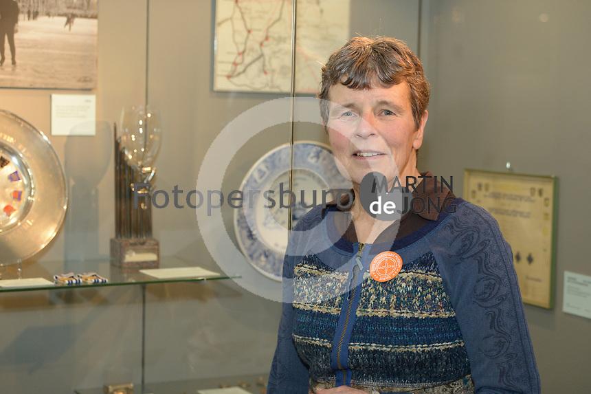 SCHAATSEN: SNEEK: 15-01-2020, Fries Scheepvaart Museum, Dag van de Elfstedentocht, Lenie van der Hoorn, eerste vrouw tijdens Elfstedentocht op 21-02-1985, ©foto Martin de Jong