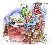 Fabrizio, Comics, CHRISTMAS SANTA, SNOWMAN, paintings, ITFZ17,#x# Weihnachten, Navidad, illustrations, pinturas