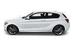 Car driver side profile view of a 2018 BMW 1 Series M Sport Ultimate 3 Door Hatchback