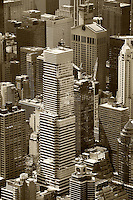 aerial photograph office towers, Manhattan, New York City