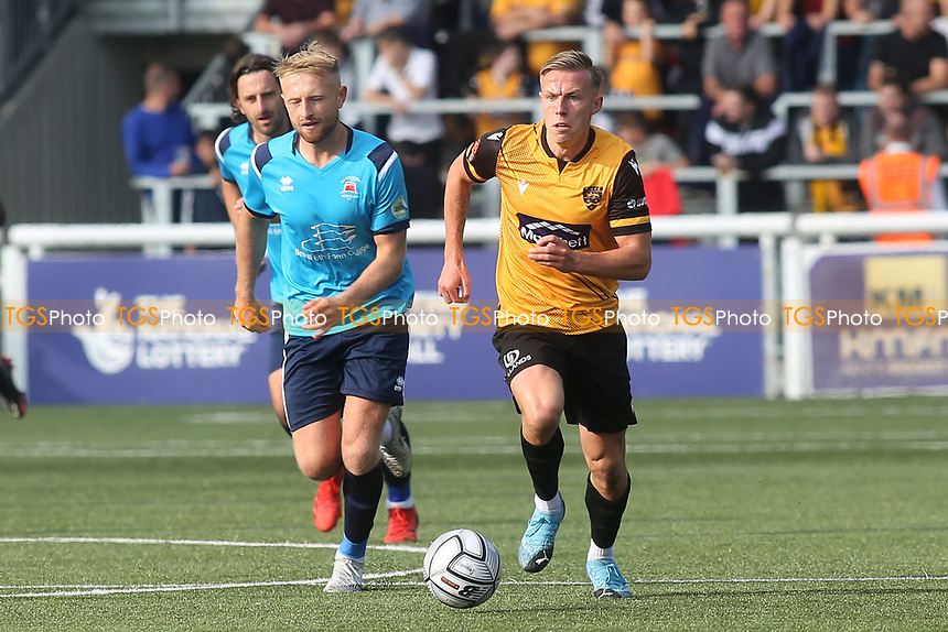 Sam Corne of Maidstone United races upfield during Maidstone United vs Eastbourne Borough, Vanarama National League South Football at the Gallagher Stadium on 9th October 2021