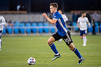 SAN JOSE, CA - MAY 01: Tanner Beason #15 of the San Jose Earthquakes dribbles the ball during a game between San Jose Earthquakes and D.C. United at PayPal Park on May 01, 2021 in San Jose, California.