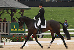 April 25, 2014: Mighty Nice and Phillip Dutton compete in Dressage at the Rolex Three Day Event in Lexington, KY at the Kentucky Horse Park.  Candice Chavez/ESW/CSM