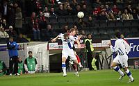 Kopfbalduell zwischen Patrick Ochs (Eintracht) und Sibusiso Zuma (Bielefeld)<br /> Eintracht Frankfurt vs. Arminia Bielefeld, Commerzbank Arena<br /> *** Local Caption *** Foto ist honorarpflichtig! zzgl. gesetzl. MwSt. Auf Anfrage in hoeherer Qualitaet/Aufloesung. Belegexemplar an: Marc Schueler, Am Ziegelfalltor 4, 64625 Bensheim, Tel. +49 (0) 6251 86 96 134, www.gameday-mediaservices.de. Email: marc.schueler@gameday-mediaservices.de, Bankverbindung: Volksbank Bergstrasse, Kto.: 151297, BLZ: 50960101