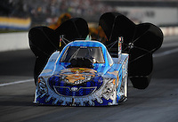 Sept. 3, 2010; Clermont, IN, USA; NHRA funny car driver Jim Head during qualifying for the U.S. Nationals at O'Reilly Raceway Park at Indianapolis. Mandatory Credit: Mark J. Rebilas-