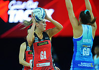 Tactix' Te Paea Selby-Rickit during the ANZ Premiership netball final between Northern Mystics and Mainland Tactix at Spark Arena in Auckland, New Zealand on Sunday, 8 August 2021. Photo: Dave Lintott / lintottphoto.co.nz