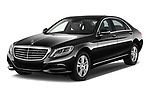 2017 Mercedes Benz S-Class Executive-Line 4 Door Sedan Angular Front stock photos of front three quarter view