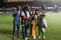 ORLANDO, FL - NOVEMBER 15: Ex USMNT player DaMarcus Beasley and family during a game between Canada and USMNT at Exploria Stadium on November 15, 2019 in Orlando, Florida.