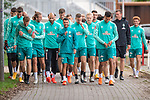 10.09.2020, Trainingsgelaende am wohninvest WESERSTADION - Platz 12, Bremen, GER, 1.FBL, Werder Bremen Training<br /> <br /> Gut gelaubt nach der Mental Stunde zum  Training <br /> Simon Straudi (Werder Bremen #26)<br /> Niclas Füllkrug / Fuellkrug (Werder Bremen #11)<br /> Ömer / Oemer Toprak (Werder Bremen #21)<br /> Leonardo Bittencourt  (Werder Bremen #10)<br /> Niklas Moisander (Werder Bremen #18 Kapitaen)<br /> Davie Selke  (SV Werder Bremen #09)<br /> <br /> <br /> <br /> <br /> Foto © nordphoto / Kokenge