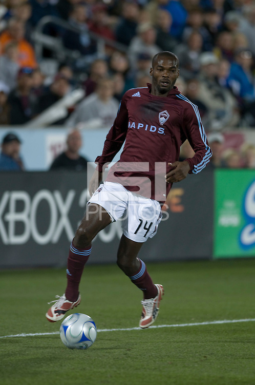 Colorado forward Omar Cummings. Real Salt Lake earned a tied versus the Colorado Rapids securing a place in the postseason. Dick's Sporting Goods Park, Denver, Colorado, October, 25, 2008. Photo by Trent Davol/isiphotos.com