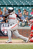 Outfielder Anthony Alford #24 during the Under Armour All-American Game at Wrigley Field on August 13, 2011 in Chicago, Illinois.  (Mike Janes/Four Seam Images)