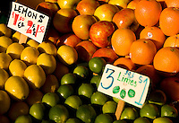 Fruit on sale at Pike Place Market in Seattle Washington.