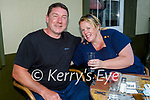 Enjoying the evening in the Grand Hotel on Saturday, l to r: Damien Hynes and Holly Evans.