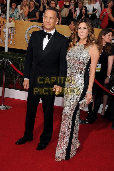 18 January 2014 - Los Angeles, California - Tom Hanks, Rita Wilson. 20th Annual Screen Actors Guild Awards - Arrivals held at The Shrine Auditorium. Photo Credit: Byron Purvis/AdMedia<br /> CAP/ADM/BP<br /> ©Byron Purvis/AdMedia/Capital Pictures
