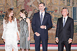Juliana Awada, Queen Letizia, King Felipe VI of Spain and president of Argentine Republic Mauricio Macri during the reception in honor of his majesties the Kings of Spain offered by his excellencies the president of the Argentine Republic at El Pardo Palace in Madrid, Spain. February 23, 2017. (ALTERPHOTOS/BorjaB.Hojas)