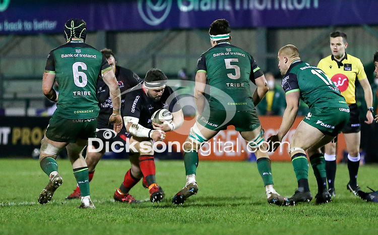27th December 2020   Connacht  vs Ulster <br /> <br /> Marty Moore during the Guinness PRO14 match between Connacht and Ulster at The Sportsground in Galway. Photo by John Dickson/Dicksondigital