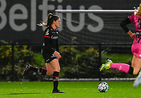 Anne-Lore Scherrens (22) of Zulte-Waregem pictured during a female soccer game between Sporting Charleroi and SV Zulte-Waregem on the 12 th matchday of the 2020 - 2021 season of Belgian Scooore Womens Super League , friday 29 th of January 2021  in Marcinelle , Belgium . PHOTO SPORTPIX.BE | SPP | DAVID CATRY