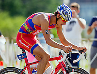 29 JUN 2014 - CHICAGO, USA - Mario Mola (ESP) of Spain on the bike during the elite men's ITU 2014 World Triathlon Series round in Grant Park, Chicago in the USA (PHOTO COPYRIGHT © 2014 NIGEL FARROW, ALL RIGHTS RESERVED)