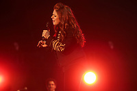 Isabelle Boulay performs on the main stage of the Festival d'ete de Quebec (FEQ) in Quebec city Thursday July 6, 2017.