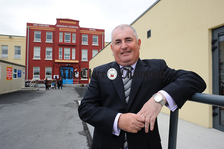 Frank Keane, the newly appointed Hospital Manager at the Mid-Western Regional Hospital, Ennis. Photograph by John Kelly.