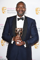 Sir Lenny Henry<br /> in the winners room at the 2016 BAFTA TV Awards, Royal Festival Hall, London<br /> <br /> <br /> ©Ash Knotek  D3115 8/05/2016