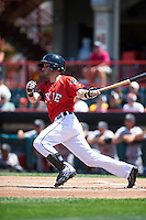 Erie Seawolves second baseman Tyler Bortnick (35) at bat during a game against the Altoona Curve on July 10, 2016 at Jerry Uht Park in Erie, Pennsylvania.  Altoona defeated Erie 7-3.  (Mike Janes/Four Seam Images)