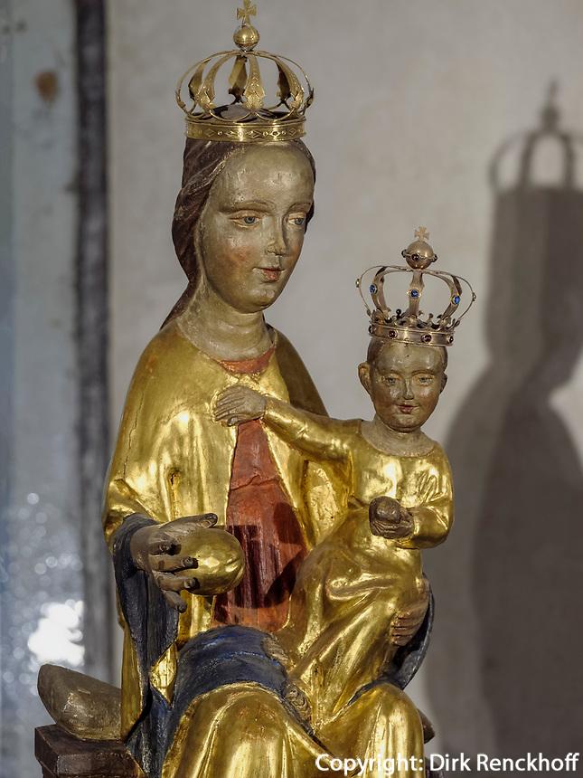 Madonna in der Krypta des Mariendom,  Hildesheim, Niedersachsen, Deutschland, Europa, UNESCO Weltkulturerbe<br /> Madonna in crypt, Cathedral of St. Mary Hildesheim, Lower Saxony, Germany, Europe, UNESCO Heritage Site