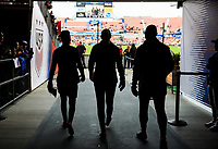 Houston, TX - Sunday April 8, 2018: USWNT during an International friendly match versus the women's National teams of the United States (USA) and Mexico (MEX) at BBVA Compass Stadium.