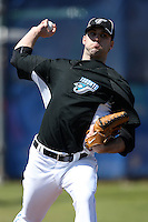 March 1, 2010:  Pitcher Brandon Morrow (23) of the Toronto Blue Jays during practice at Englebert Complex in Dunedin, FL.  Photo By Mike Janes/Four Seam Images
