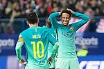 FC Barcelona's forward Leo Messi and forward Neymar Santos Jr reacts during the match of Copa del Rey between Atletico de  Madrid and Futbol Club Barcelona at Vicente Calderon Stadium in Madrid, Spain. February 1st 2017. (ALTERPHOTOS/Rodrigo Jimenez)